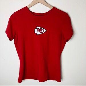 RBK KC Chiefs Glitter Logo Shirt M